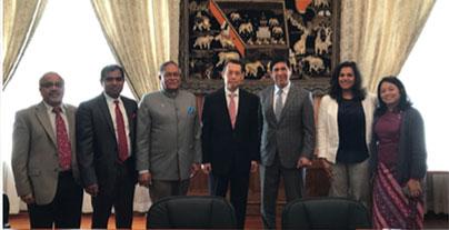 Historic Meeting At Myanmar Embassy With Ambassador U Aung Lynn