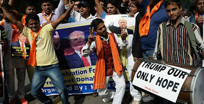 Trump's foreign policy agenda has strong support in India
