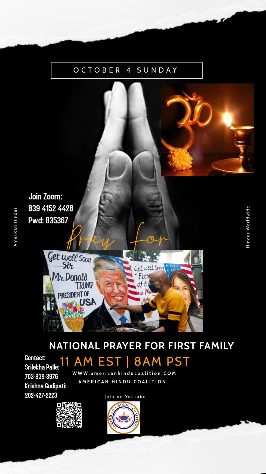 NATIONAL PRAYER FOR FIRST FAMILY